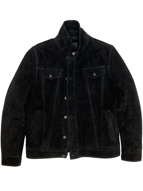 4186 Wilde Jacket Black Suede Leather