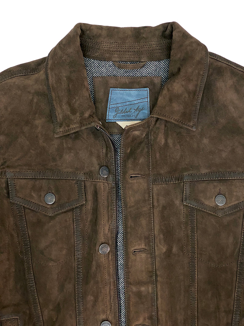 4186 Wilde Jacket Brown Suede Leather