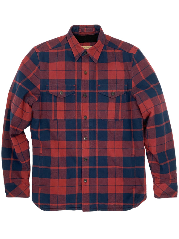 4216 Warner Red Navy Heavy Flannel CPO