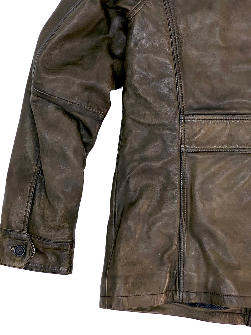 4246 Woolworth Filed Olive Leather Jacket