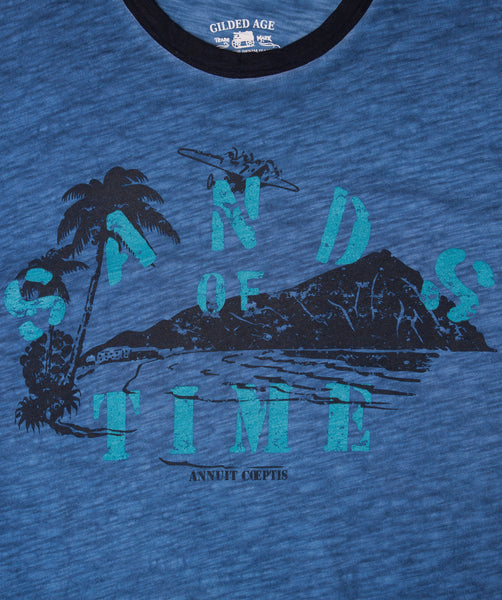 "5392-A ""Sands of Time"" Mid Light Indigo T-shirt"