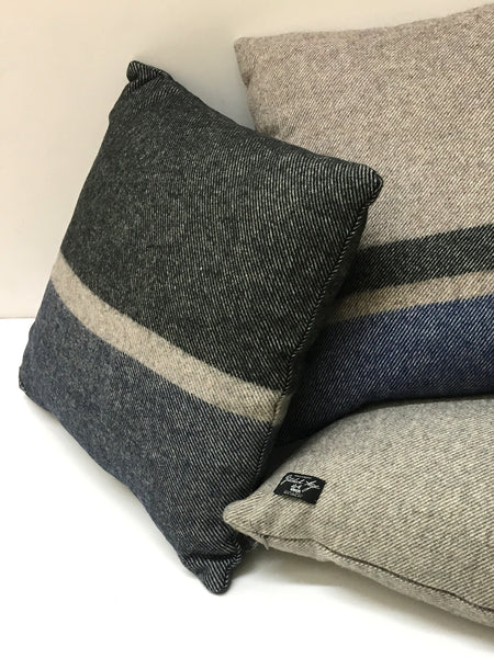 Navy Black Cabin Pillow