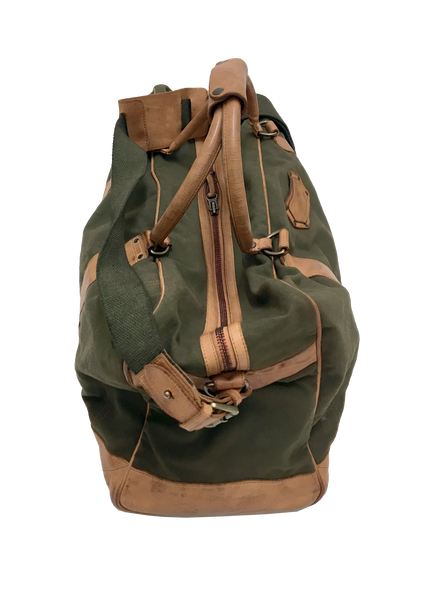 9010-18oz Canvas & Leather Duffel Travel Bag