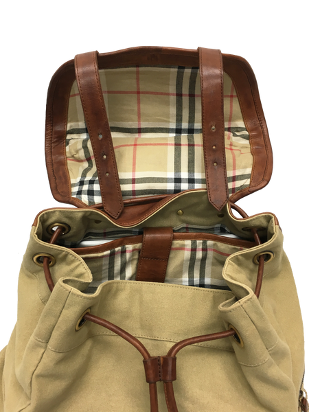 9040 18oz Navy Canvas with Single Malt Leather Classic Backpack