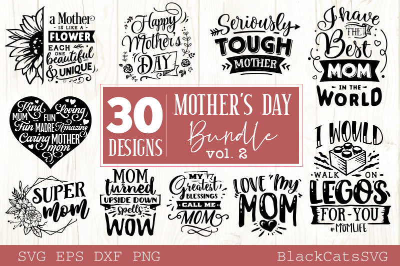 Mother's Day SVG bundle 30 designs Motherhood SVG bundle vol 2