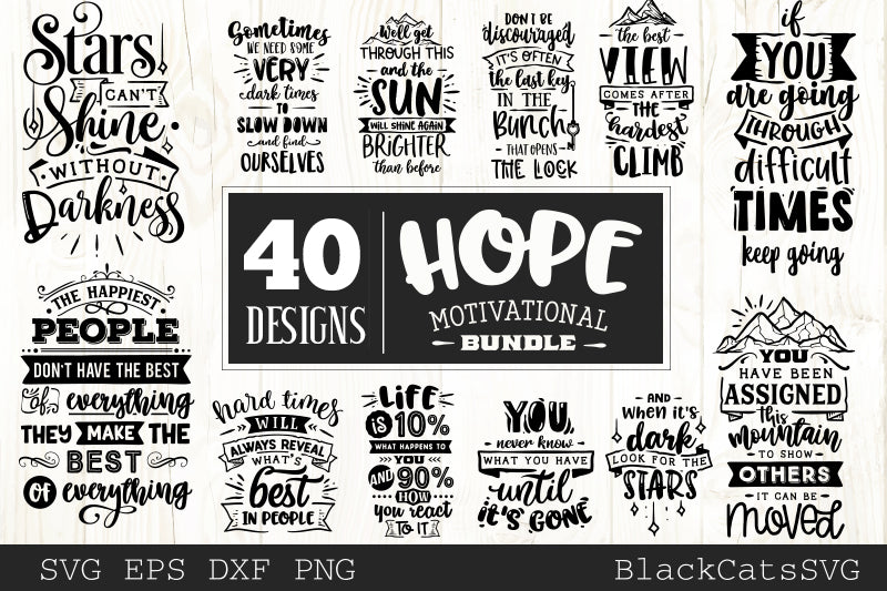 Hope motivational Bundle SVG bundle 40 designs