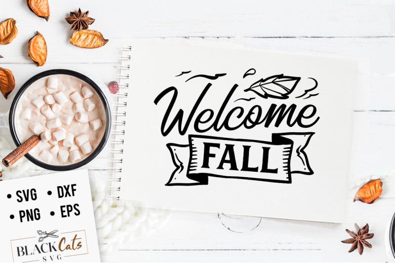 Welcome fall SVG file Cutting File Clipart in Svg, Eps, Dxf, Png for Cricut & Silhouette