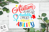 Autism is not a disability SVG