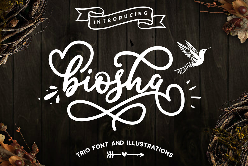 Biosha Font trio and extras