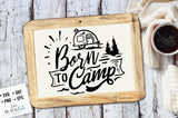 Born to camp SVG