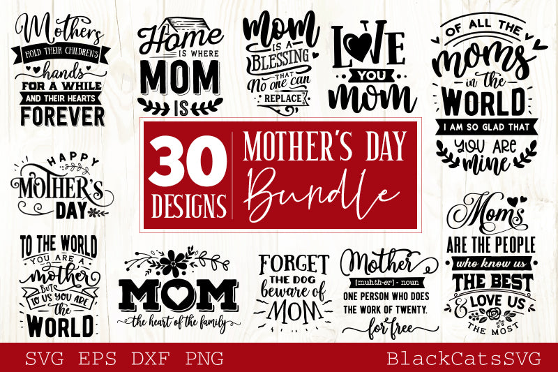 Free Give your mom a beautiful and meaningful gift! Mother S Day Svg Bundle 30 Designs Motherhood Svg Bundle Blackcatssvg SVG, PNG, EPS, DXF File