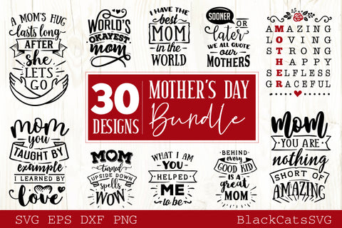 Mother's Day SVG bundle 30 designs Motherhood SVG bundle