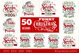 Funny Christmas bundle 50 SVG file Cutting File Clipart in Svg, Eps, Dxf, Png for Cricut & Silhouette