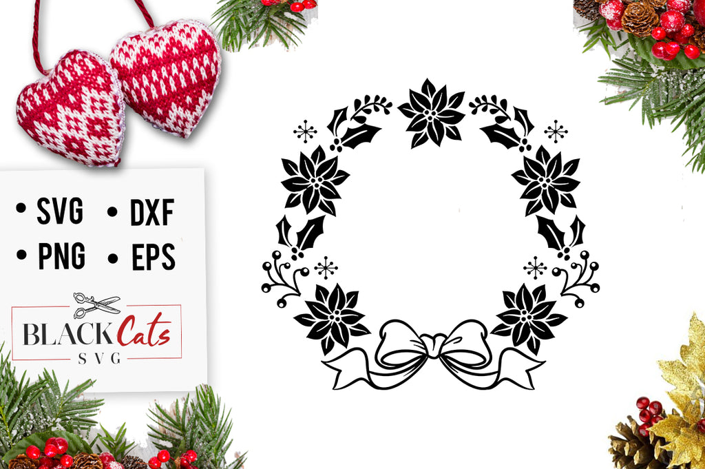 Christmas wreath SVG cutting file