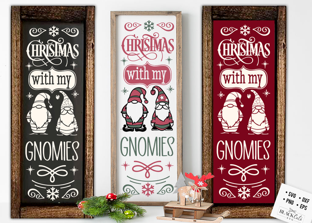 Christmas with my gnomies SVG FREE Christmas SVG