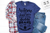 Autism - the journey that turns Daddy bears SVG