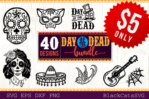 Day of the Dead SVG bundle 40 designs Dia de los Muertos SVG bundle