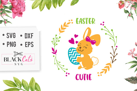 Easter Cutie SVG file Cutting File Clipart in Svg, Eps, Dxf, Png for Cricut & Silhouette