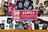 Family matching outfits SVG bundle 50 designs vol 1