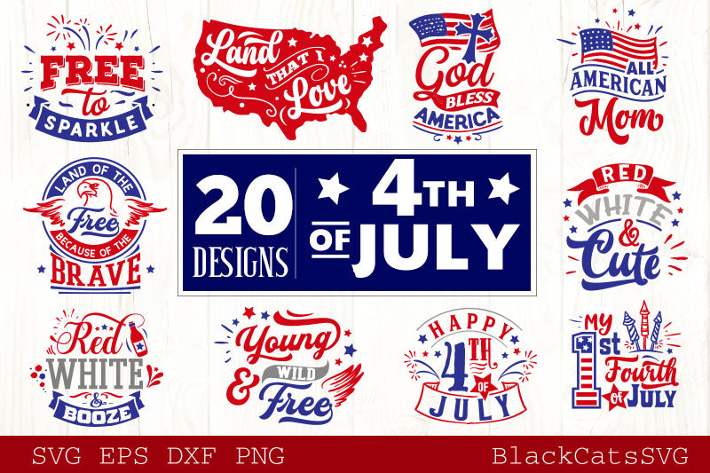 Fourth of July  SVG bundle 20 designs Independence Day SVG bundle