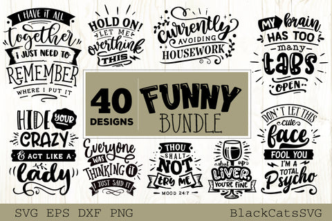 Funny SVG bundle 40 designs