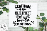 Gratitude is the Healthiest of All Human Enough SVG File