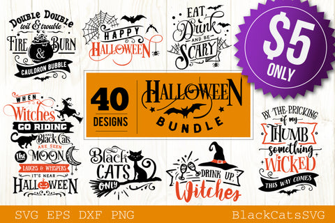 Halloween bundle 40 SVG files vol 2
