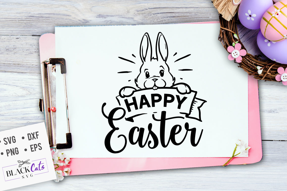 Download Happy Easter SVG file Cutting File Clipart in Svg, Eps ...