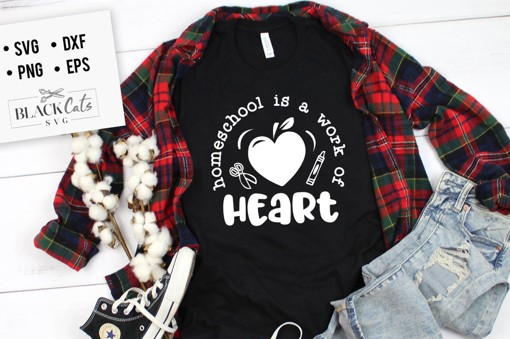 Homeschool is a work of heart SVG