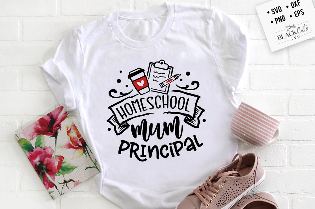 Homeschool mum principal SVG