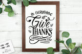 In Everything Give Thanks SVG File