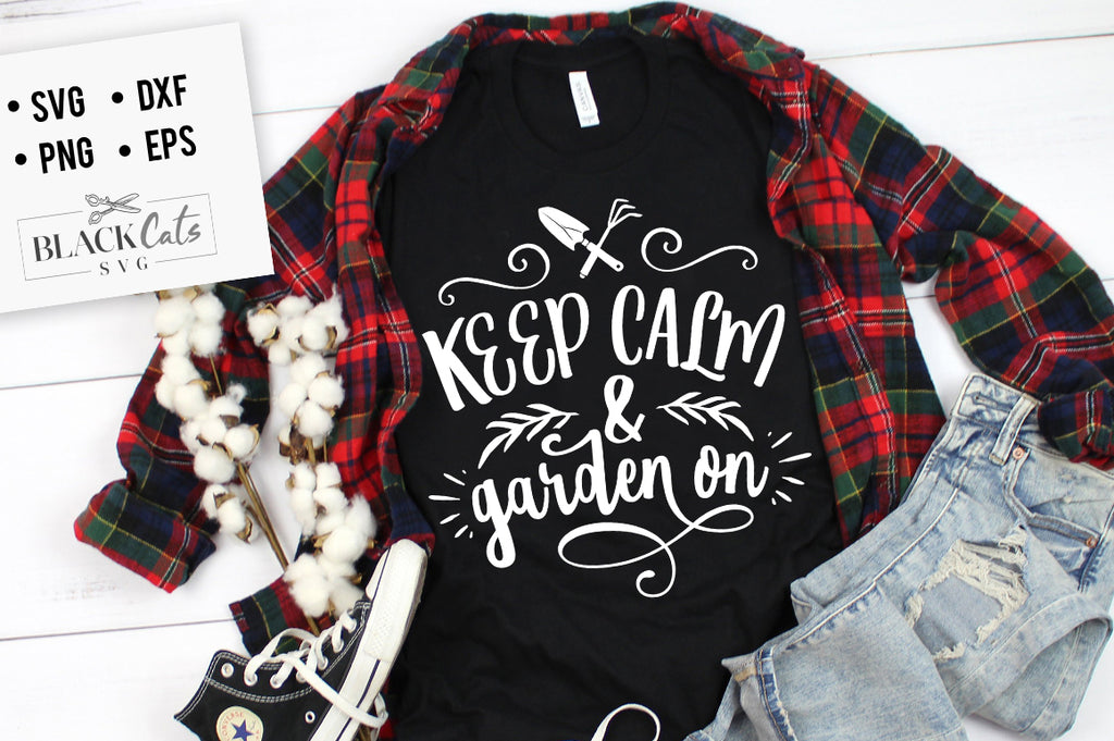 Keep calm and garden on SVG