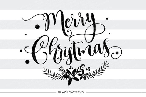 Merry Christmas - SVG cutting file - BlackCatsSVG