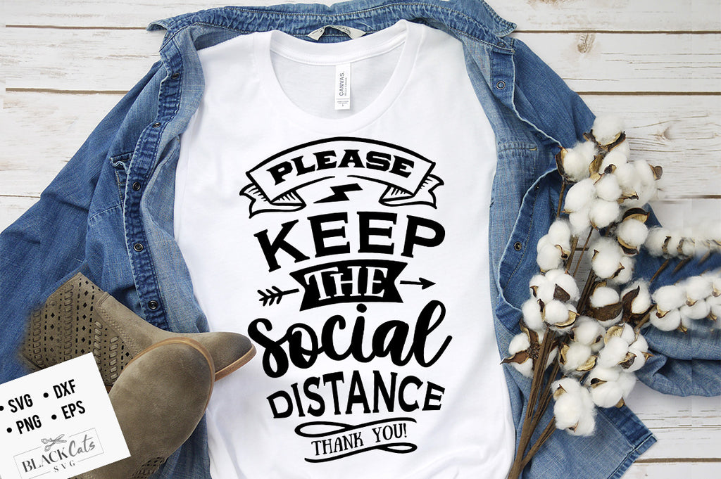 Please keep the social distance SVG