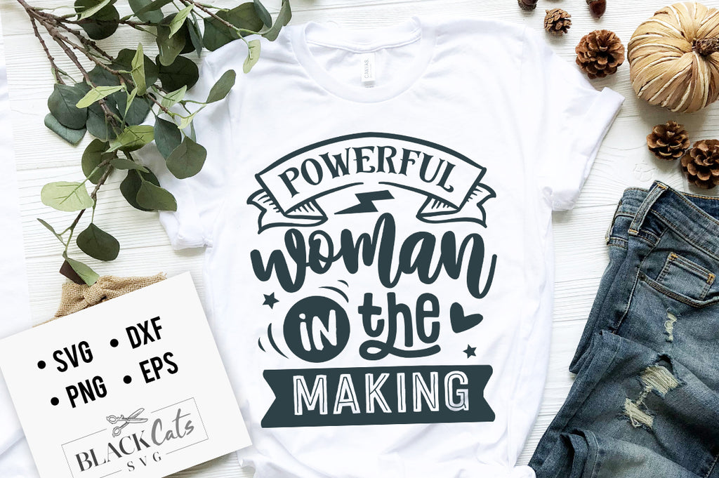 Powerful woman in the making SVG