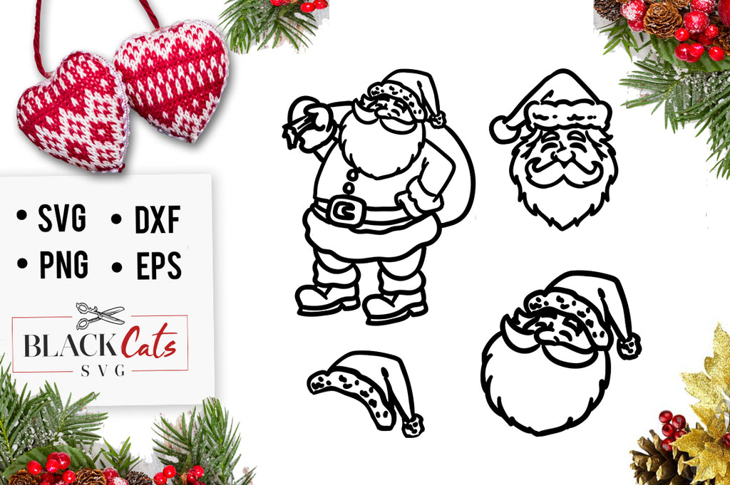 Santa Claus cuttable SVG cutting file