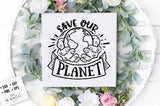 Save Our Planet SVG File