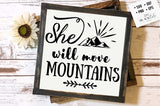 Will move mountains SVG