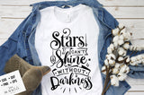 Stars can't shine without darkness svg