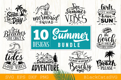 Summer Bundle 10 Summer SVG files Bundle Summer SVG file Cutting File Clipart in Svg, Eps, Dxf, Png for Cricut & Silhouette