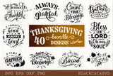 Thanksgiving bundle - 40 SVG file Cutting File Clipart in Svg, Eps, Dxf, Png for Cricut & Silhouette