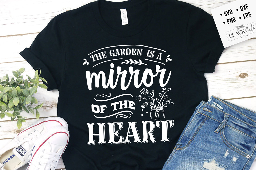 The garden is a mirror SVG