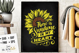 There is sunshine in my heart SVG file