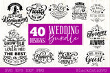 Wedding bundle - 40 SVG file vol 2 Cutting File Clipart in Svg, Eps, Dxf, Png for Cricut & Silhouette
