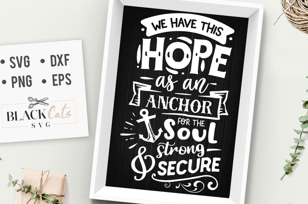 We have this hope as an anchor SVG