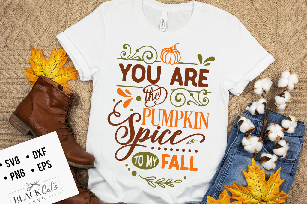 You Are The Pumpkin Spice to My Fall SVG File