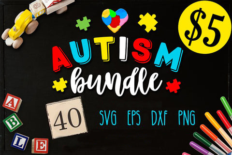 Autism Bundle - 40 Autism SVG files Bundle Autism SVG file Cutting File Clipart in Svg, Eps, Dxf, Png for Cricut & Silhouette
