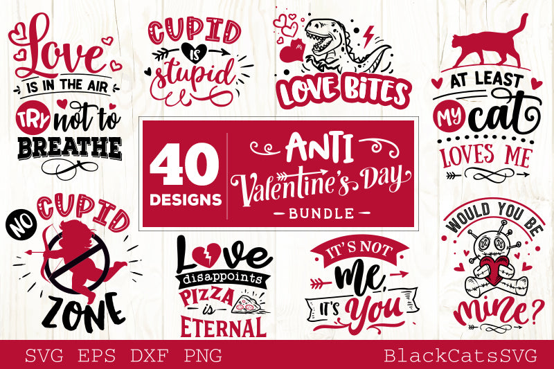 Anti Valentines Day SVG bundle 40 designs