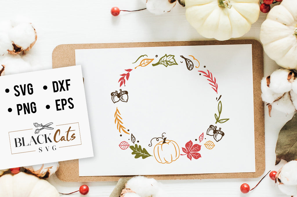 Autumn frame SVG file Cutting File Clipart in Svg, Eps, Dxf, Png for Cricut & Silhouette