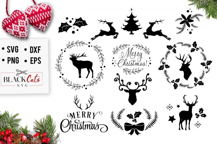 Christmas Svg Pack Cutting File Blackcatssvg